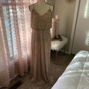 adrianna papell beaded gown (altered straps)